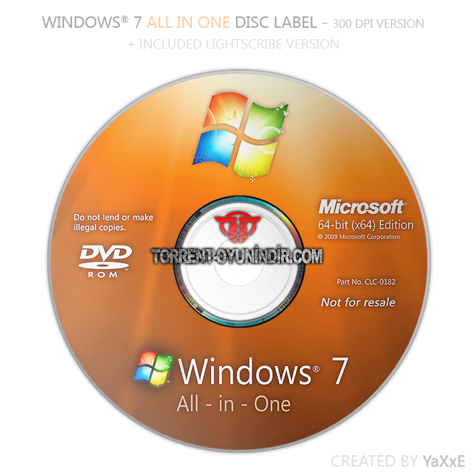 WINDOWS 7 ALL IN ONE PRE-ACTIVATED
